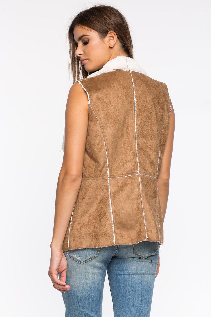 Замшевый жилет Размеры: S, M, L, XL Цвет: бежевый Цена: 1965 руб.     #одежда #женщинам #жилеты #коопт