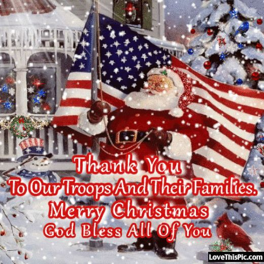 Thank You To Our Troops Merry Christmas