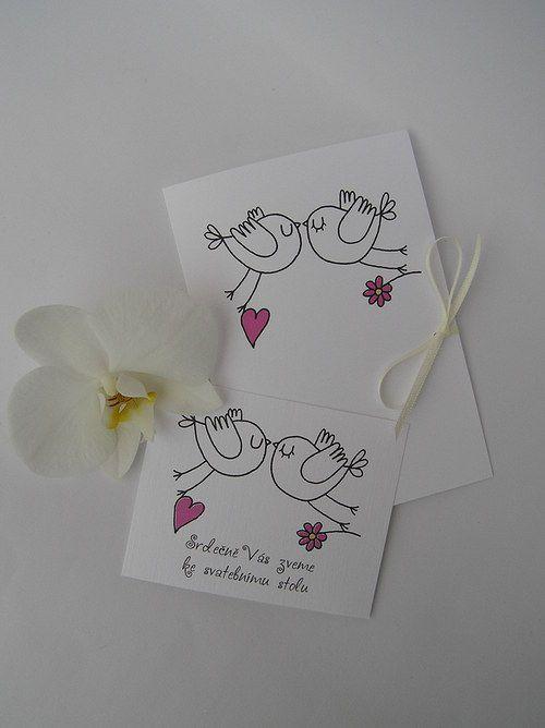 Svatební oznámení s pozvánkou ke stolu
