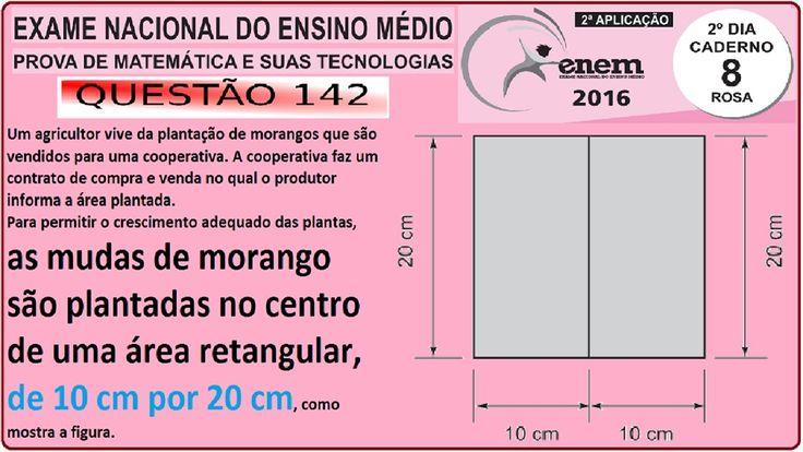 CURSO MATEMÁTICA ENEM 2016 QUESTÃO 142 PROVA ROSA RESOLVIDA EXAME NACION... https://youtu.be/BlpdaMUhNf4