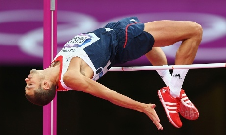 Robbie Grabarz soars to a bronze medal in the high jump