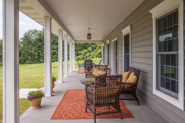 Mastic Siding Porch Traditional with Ceiling Lantern Craftsman Exterior Orange Area Rug Orange Throw