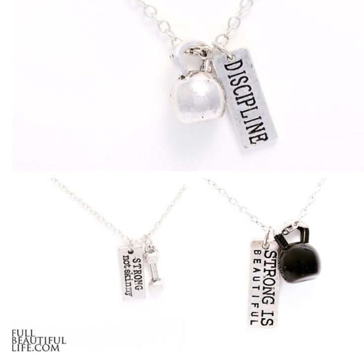 Get this bundle for you or split it with your #swolemate friend! Makes a great gift!  Kick off 2016 with this awesome limited time fitness pack. Normally $15 each, for a value of $45 you will get three necklaces, a Discipline with kettle bell charm, Strong Not Skinny with dumb bell charm, and a Strong Is Beautiful with black kettle bell charm, all for just $20.16 #fitspo #fitfam #fitness #health #fitlife #utah #utahbusiness
