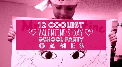 "Party time again?! ""Yep. I've scoured the internet for some party game ideas and came up with some cool Valentine's Day games of my own (FREE PRINTABLES). These 12 Coolest Valentine's Day School Party Games will make everyone fall in love from Pre-school to 6th grade. Happy planning and remember that chocolate is a party planners best friend (bribes always welcome)."" Enjoy!"