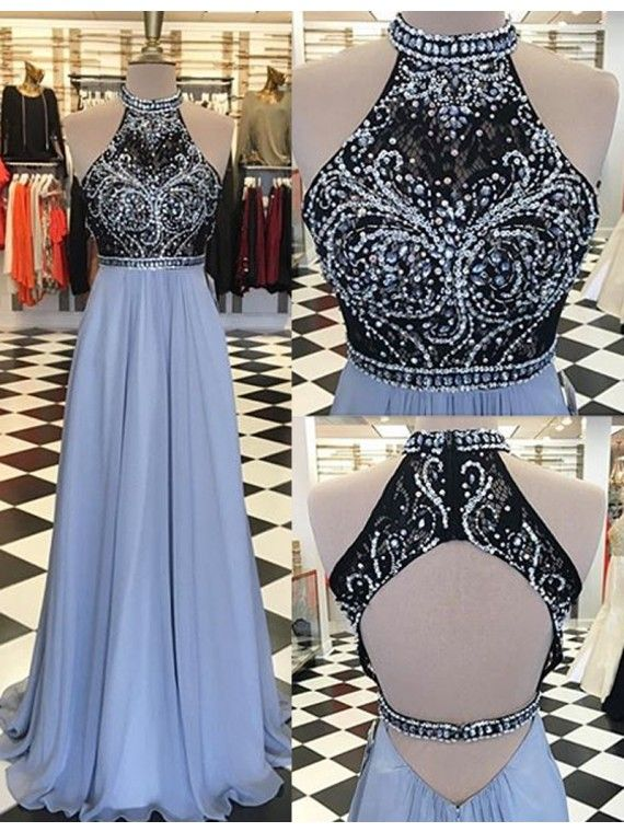 Prom Dresses,Evening Dress,Party Dresses,Fashion Round Neck Open