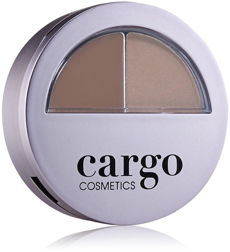Cargo Brow Kit, Light. Two-in-one brow kit to create perfectly shaped arched brows. Long wearing brow powder helps fill in, shape, correct and emphasize the natural arch of the brow. A color-coordinated tinted wax tames and sets the brows. Brows are defined and in place all day.