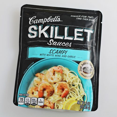 Campbell's Skillet Sauces - Scampi with White Win and Garlic #CampbellsSauces #sponsored