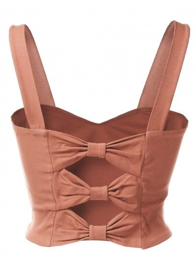 Womens Trendy Caged Back Zip Up Cropped Bustier Top