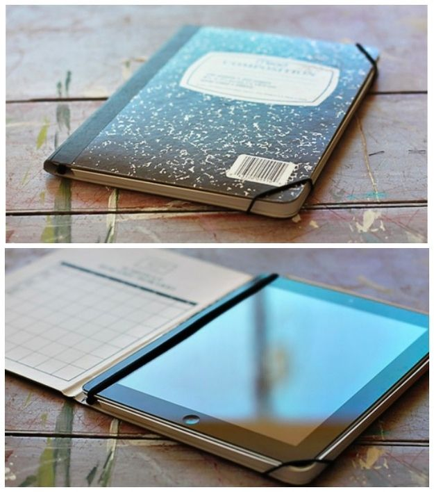 Notebook iPad Cover | 23 DIY Holiday Gifts Kids Can Give To Their Parents