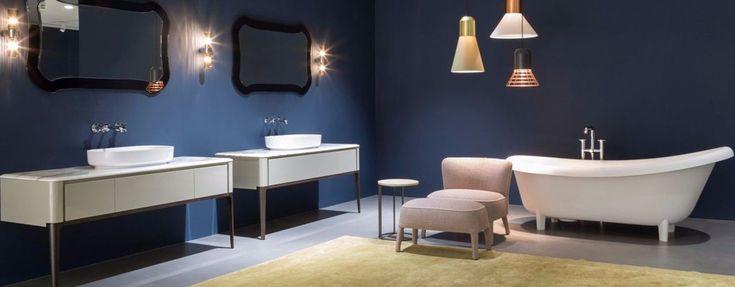 Blu, rosa cipria, avana e grigio. Il mood Antonio Lupi