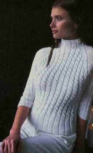 Вязаные свитера с воротником стойка