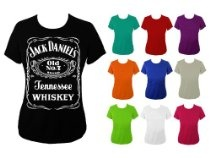 Womens Jack Daniels Whiskey Slogan Whisky T-shirt  From Quirk  Price:£10.99