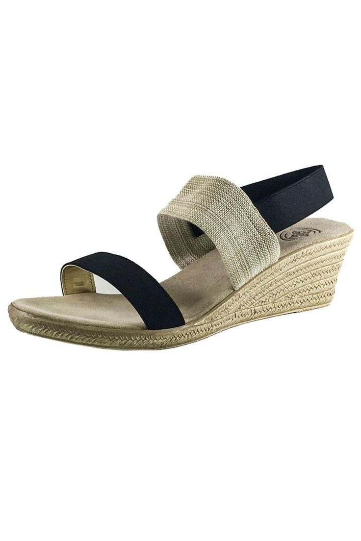 Perfect 2? espadrille wedge to pair with everything! Sling-back allows for a blister-free heel!  Half sizes order down Cooper Espadrille Wedge by CHARLESTON. Shoes - Wedges New Hampshire