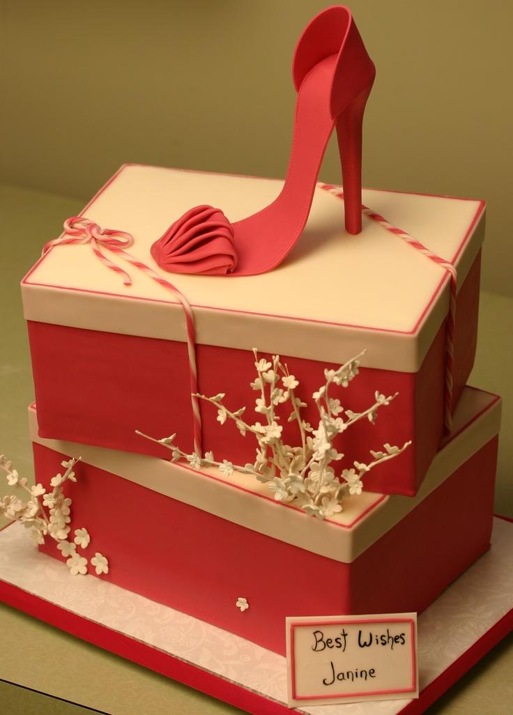 Pink Shoe Box Cake !!!