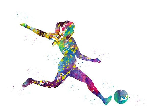 Pin By Black Window On Fineartamerica Soccer Art Soccer Players Girl Playing Soccer