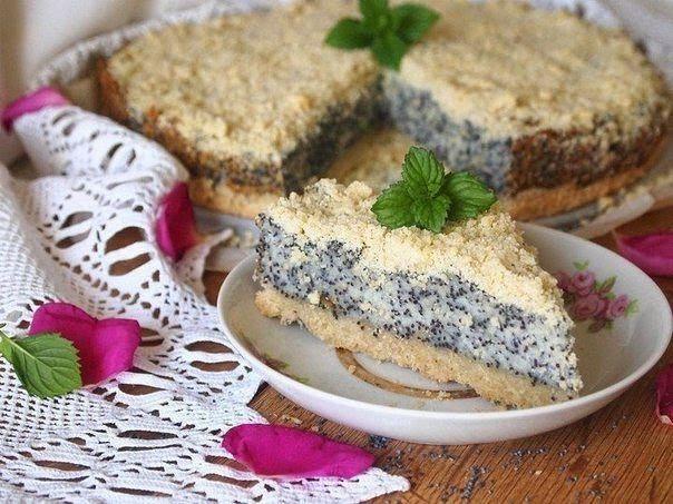 Творожно-маковый пирог
