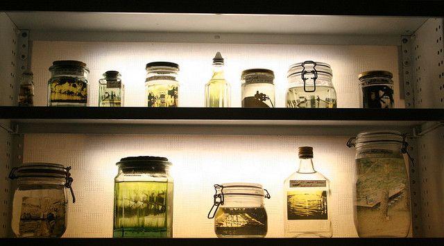 https://flic.kr/p/4R82XT | The Shelf of Memories | The shelf of photos in a jar.