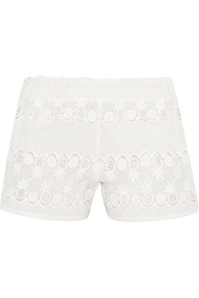 Miguelina - Paula Cotton-lace Shorts - White -