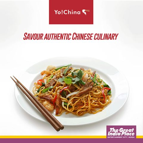 Savour the authentic Chinese culinary at Yo! China, TGIP, Noida. #TheGreatIndiaPlace #TGIP #GGfoodies #foodies #chinesefood #chinesecuisines #foodlover #noidamall #delhimall #delhi #noida