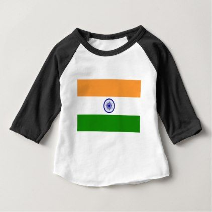 """Good color Indian flag """"Tiranga"""" Baby T-Shirt - good gifts special unique customize style"""