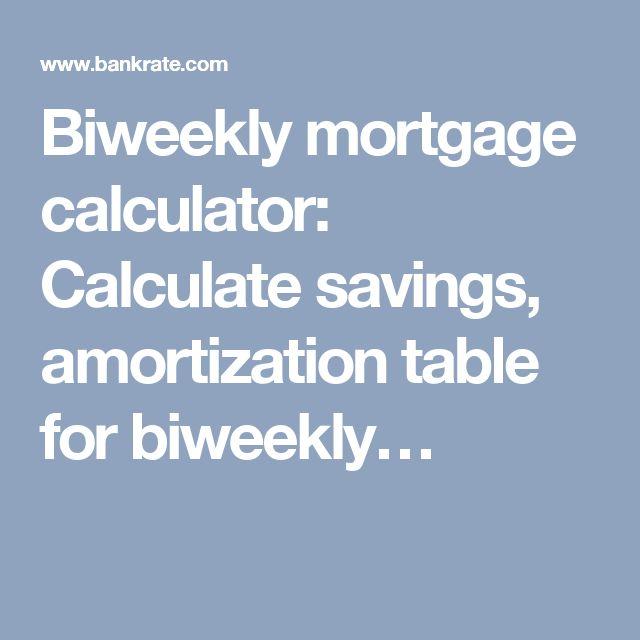 25+ unique Biweekly mortgage ideas on Pinterest Biweekly - mortgage amortization calculator