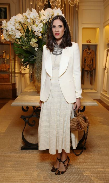 Tatiana Casiraghi was a vision in white at the Ralph Lauren store to view the brand's See Now, Buy Now collection.