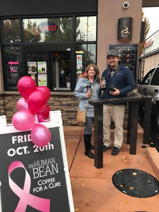 Kurt and Jeanna are out capturing video today for #CoffeeForACure. Like true ducks the rain has it slowed them down a bit.   We encourage you all to join in and swing by the Human Bean today. Lets beat this one bean at a time. #WhoAreYouBuyingACupFor