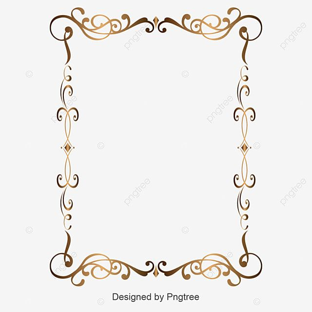 Gold Retro Decorative Border Corner Border Clipart Border Vector Golden Png And Vector With Transparent Background For Free Download Gold Photo Frames Flower Frame Png Decorative Borders