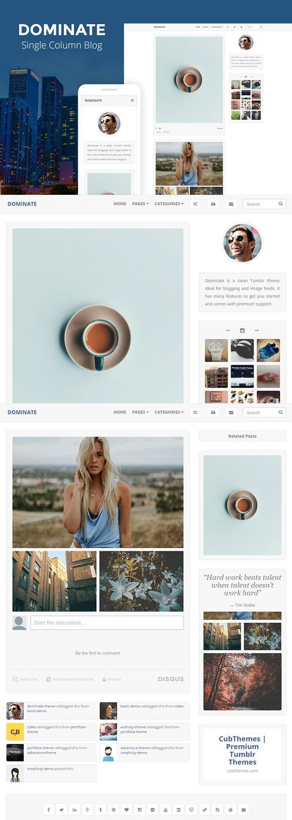 31 best Tumblr Themes images on Pinterest | Color, Colors and Colour