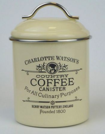One of the prettiest the coffee canisters from Charlotte Watson, UK.