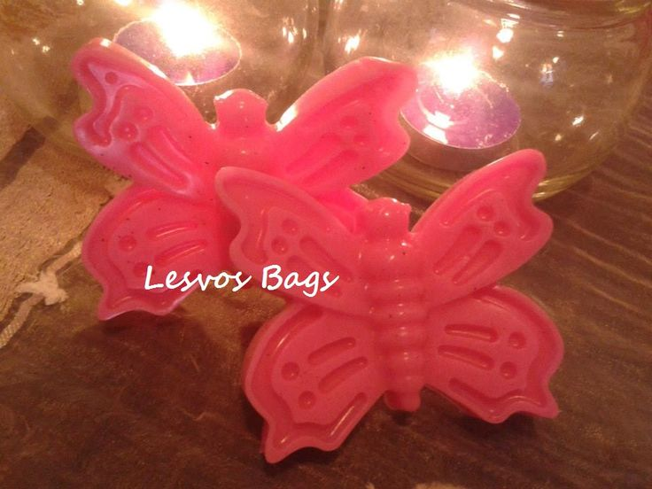 pink butterfly soap