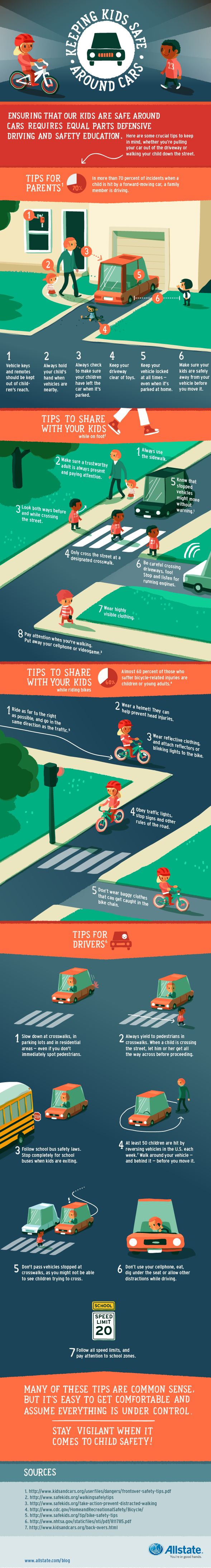 Car colour affects road safety - Infographic Keeping Kids Safe Around Cars