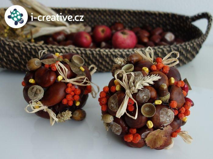 podzimní dekorační koule