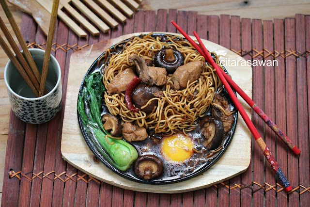 Yee Mee Sizzling Resipi Citarasawan Fotografi Makanan Makanan Dan Minuman Makanan