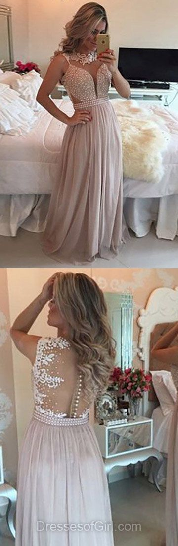 Sexy Prom Dresses, Long Prom Dress, Open Back Evening Dresses, Chiffon Party Dresses, Cheap Formal Dresses