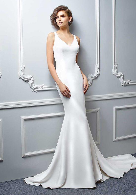 Simple Sheath Silhouette Wedding Gown
