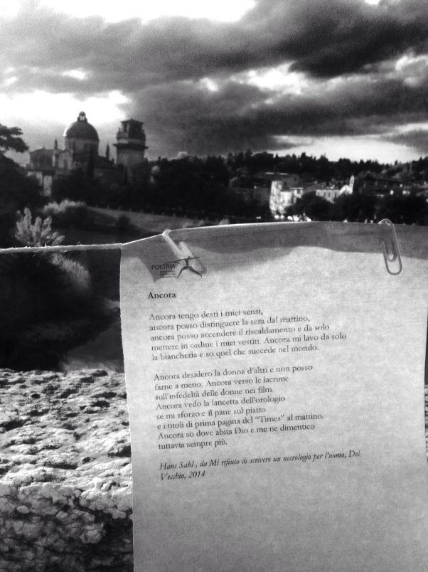Poetry in Verona.