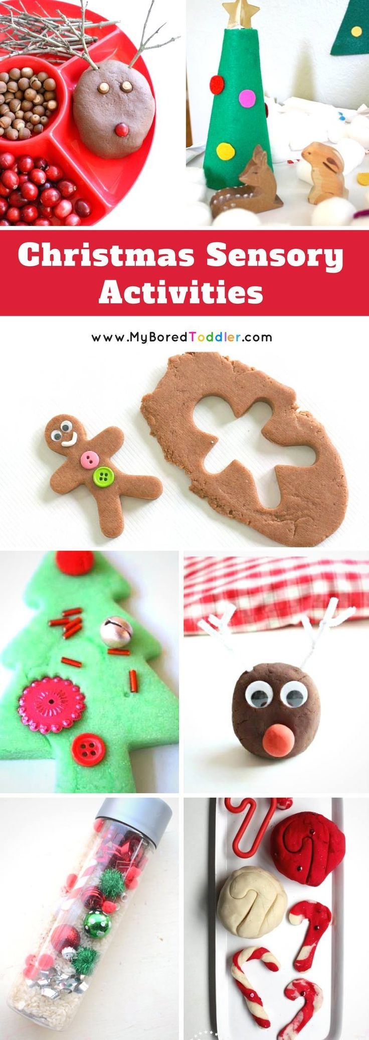 Christmas Sensory Play Ideas for Toddlers. Christmas is the perfect time for sensor play activities with your toddler or preschooler. We have over 40 great ideas.