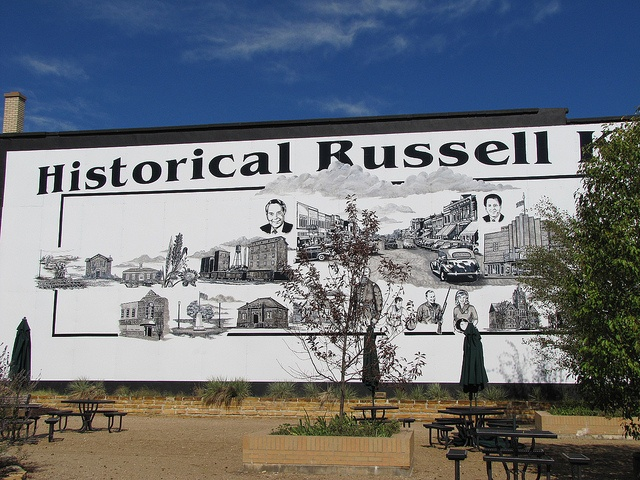 Russell, Kansas is the hometown of Bob Dole and Arlen Specter.