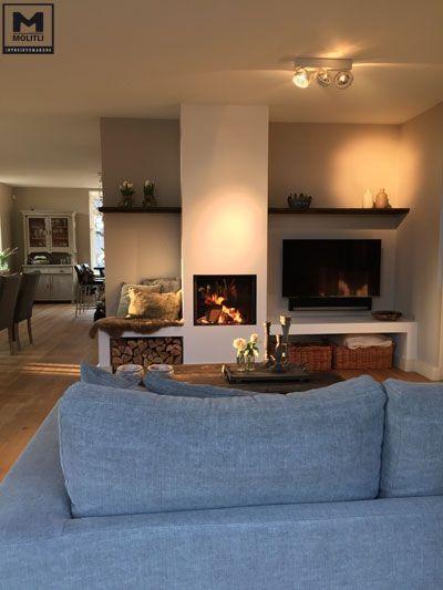 Restyling woonhuis, bestaande houten vloer behandeld, nieuwe stoere meubels/accessoires en bestaande meubels opgeknapt met onze eigen Molitli Kalkverf. www.molitli-interieurmakers.nl:
