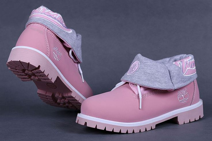 timberland boots for women,  pink roll-top timberland boots, women's roll top boots on sale