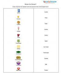 spanish food   worksheet