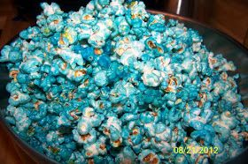 Connor's Cooking: Sugar Crunch Popcorn aka Blue Popcorn