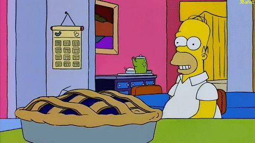 Homero Simpson y el pastel