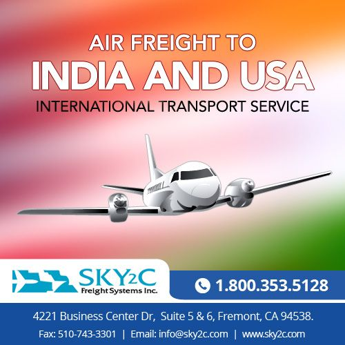 Need to #ship #goods from USA to India? Contact #Sky2c #Air #Freight #Shipping services.