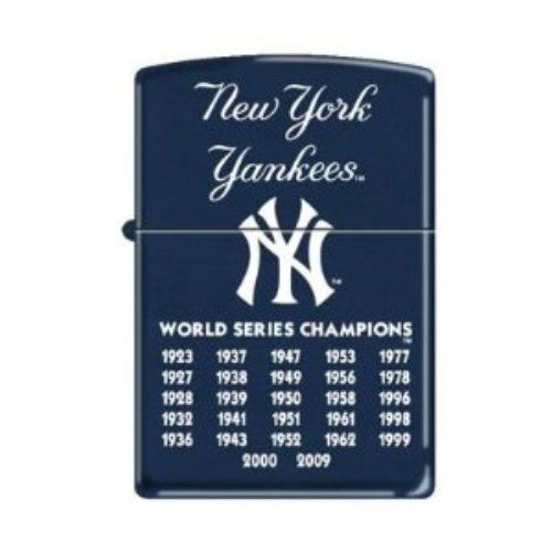 Zippo Lighters Store  -             MLB New York Yankees 27X World Series Champions Zippo Lighter