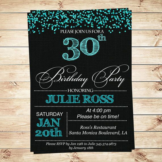 an invitation for a birthday party