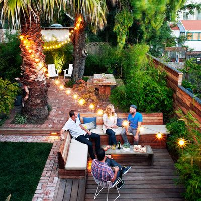 11 ways to decorate with outdoor string lights