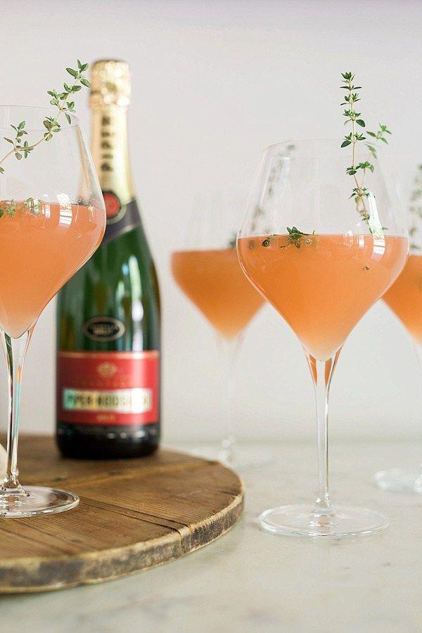 ... peach bellini recipe refreshing summer cocktails bellini fresh thyme