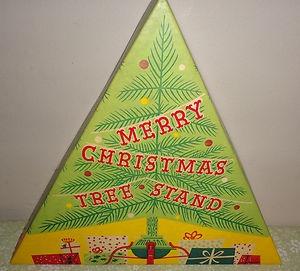 Vintage Christmas Tree Stand Box ~ Hamilton Monroe Merry Christmas Tree Stand Box. 1967